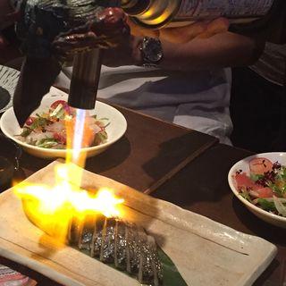炙りしめ鯖(怪獣酒場)