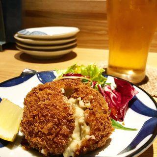 蟹と蟹味噌のクリームコロッケ(箸ずめ )