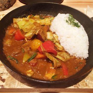 一日分の野菜カレー(野菜を食べるカレーcamp KITTE博多店 (ヤサイヲタベルカレー キャンプ))