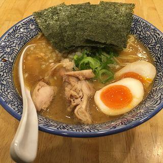 濃厚醤油鶏白湯そば 特製(麺屋 ひろ八)