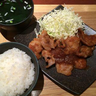 山形豚の生姜焼き定食(カンゲン クイーンズスクエア店 )