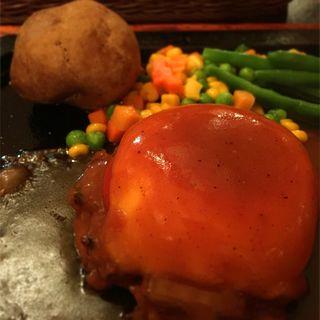 焼きトマト ハンバーグセット(ゴールドラッシュ 渋谷南口店 )