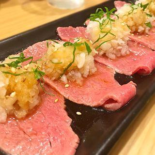 ネギポン酢ロース(食堂園)
