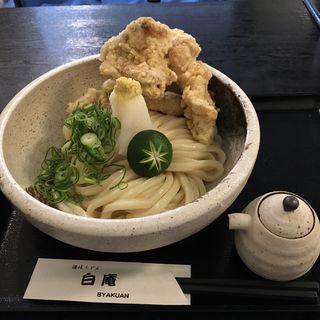 生醤油とり天(讃岐うどん 白庵 (BYAKUAN びゃくあん))