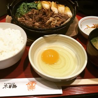 すき焼き定食(木曽路 銀座5丁目店 (キソジ))