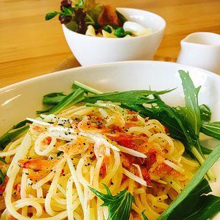 桜エビと水菜のパスタ(Cafe&Gallery Fran)