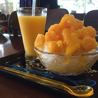 マンゴージュース&かき氷(ユートピアファーム)