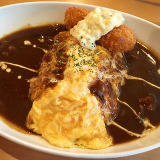 逆オムカレー クリームコロッケ(Cafe Place Mu (カフェ プレイス ミュウ))