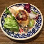 牡蠣のトマトチーズ焼き
