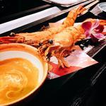 エビ天ぷらとウニマヨネーズ