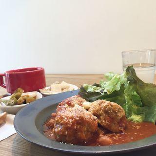肉団子の主菜ランチ(cafe634)