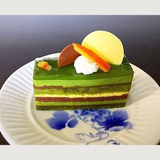 西尾抹茶とオレンジのオペラ(アンテノール 阪神百貨店 )