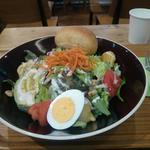 海老フリットとアボカドのナッツドレッシングサラダ(ルサンパーム 渋谷マークシティ店)