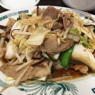 肉野菜炒め定食(日高屋 豪徳寺駅前店)
