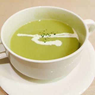 ソラマメのスープ(街の洋食屋 AKIRA (マチノヨウショクヤ アキラ))