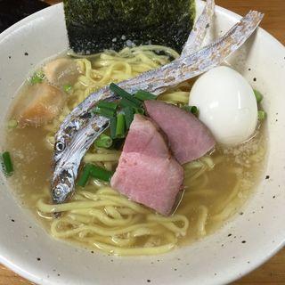 タチウオ煮干塩ラーメン味玉(限定)(麺屋 玲 )