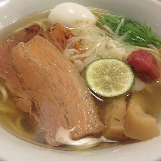 贅沢のせ塩らー麺(らーめん工房りょう花 今治店)