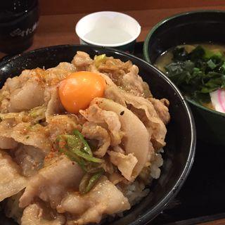 スタート丼ラーメンセット(伝説のすた丼屋 談合坂SA(下り線)店 )