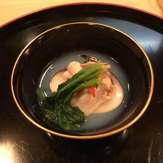 天然蛤のお吸物(山中湖 菜庭料理 尚起)