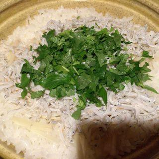 ランチコースのシラスの炊き込み御飯(明日香 北千住店 (あすか))