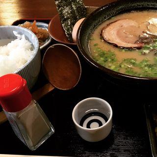 久留米とんこつラーメン定食(赤坂有薫 (アカサカユウクン))