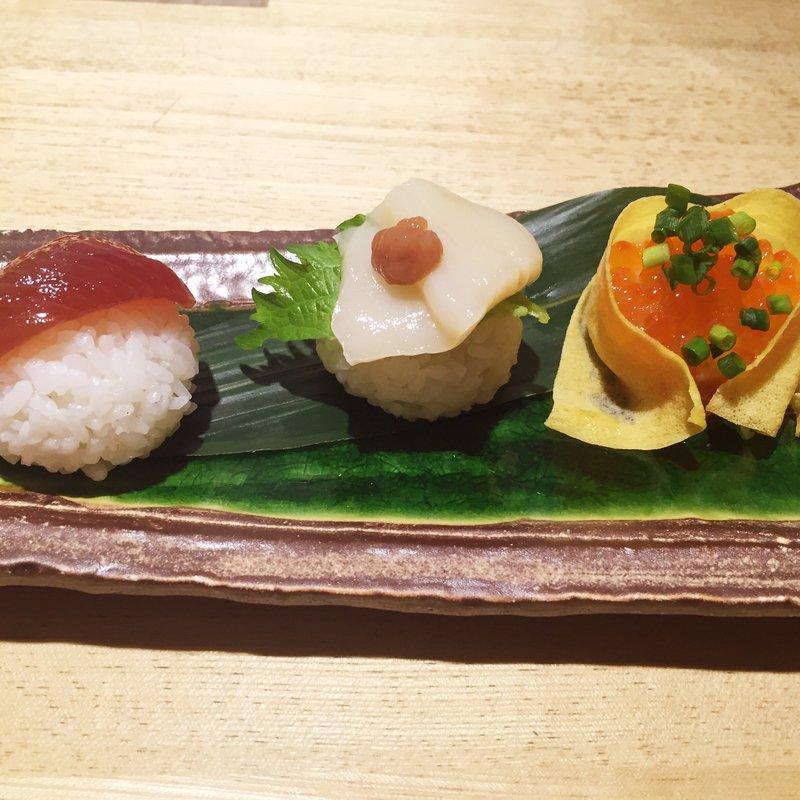 三色手毬寿司