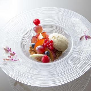 フルーツの盛り合わせ アイス(ブルガリ イル リストランテ (BVLGARI Il Ristorante))