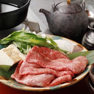 和牛のすき焼き(あふそや)