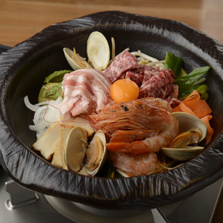 海鮮石焼鍋(若狭)