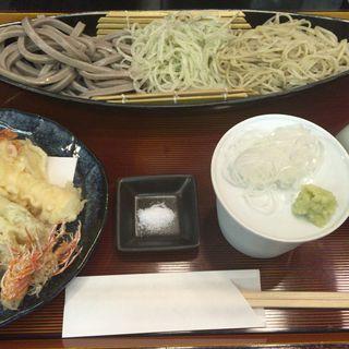 天ぷら三色蕎麦(九段一茶庵 本店 (くだんいっさあん))