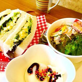 サンドイッチセット(タマゴ)(茶房Sabon)