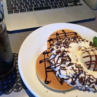 ショコラパンケーキ(cafe eight)