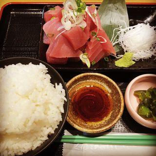 まぐろブツ定食(ねぎ塩チャーシュー丼 水喜 )