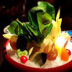 太陽と雨農園からの野菜(生、焼き)
