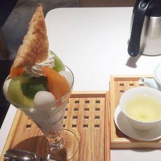お茶屋のメロンパフェ(京はやしや 西武池袋本店 )