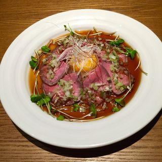 ユッケ風ローストビーフ(あぶり肉がらん)