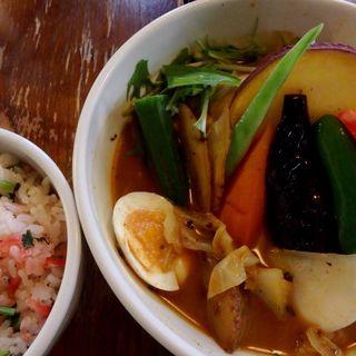 やわらかチキンと特選野菜かり〜の巻(奥芝商店 札幌本店 (オクシバショウテン))