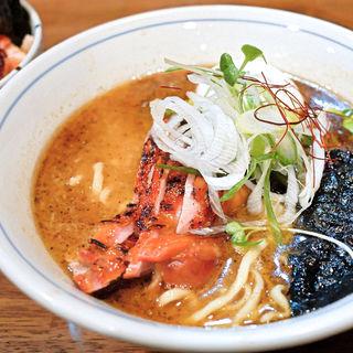 魚鶏そば+特製(欽山製麺所 )