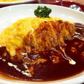 洋食屋さんのオムレツライス(洋食 横濱たちばな亭)