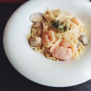 魚介と明太子のクリームパスタ(モッチモパスタ 神戸須磨店)