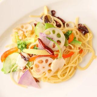 野菜とタコのパスタ(ルスティカネラ (RUSTICANELLA))