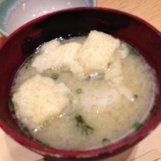 南関揚げのお味噌汁(赤坂うまや )