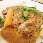三元豚肩肉の岩塩グリル・オレガノ風味 マスタードソース