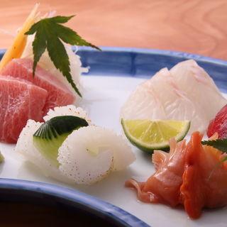 鮮魚のお造り(すし 鯔せ (スシ イナセ))