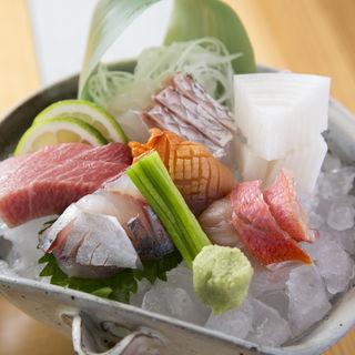 鮮魚の盛り合わせ(割烹鮨ます水)