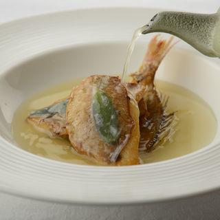 金目鯛のグリル 出汁(Taverna GUSTAVINO)