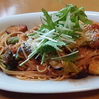 クロックセット ごろごろ野菜のトマトパスタ(クロックカフェ (CLOCK Cafe))