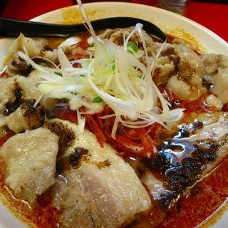 辛口ガチ味噌肉ソバ(肉増し)(辛口ガチ味噌肉ソバ ひるドラ 本店 )