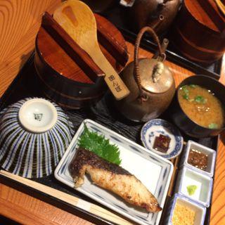 銀ダラ西京焼きおひつ膳(おひつ膳 田んぼ 代々木本店 (おひつぜん たんぼ))