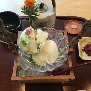 塩アイスセット(廚菓子くろぎ (クリヤカシクロギ))